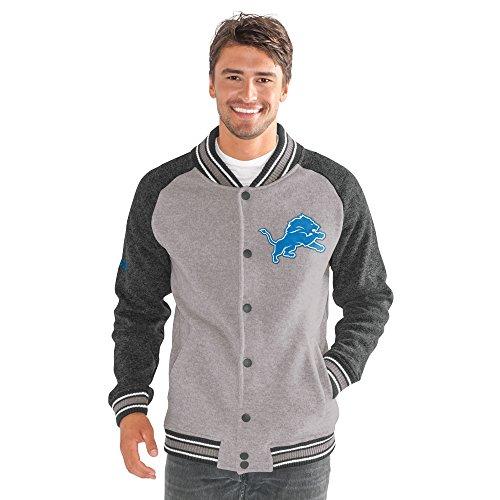 G-III Men's The Ace Sweater Varsity Jacket, Gray, Large