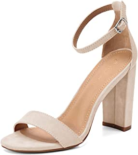Women's High Chunky Block Heel Pump Dress Sandals