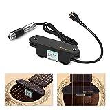 Muslady Pickup Buca Attiva Chitarra Acustica Magnetico + Microfono Dual Pickup Sistemi con Controlli del Volume per Chitarre Folk Classiche SKYSONIC T-902