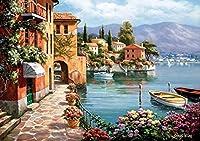 ジグソーパズル1000/2000/3000/5000ピース、木造海沿いのヨーロッパの町、写真風景パズルおもちゃ、大人の子供たちの子供たちの家(Size:1000 pieces)