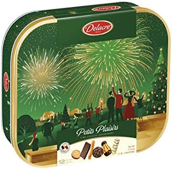 Delacre Petits Plaisirs Belgian Cookie Variety Tin 17 6 Ounce product image