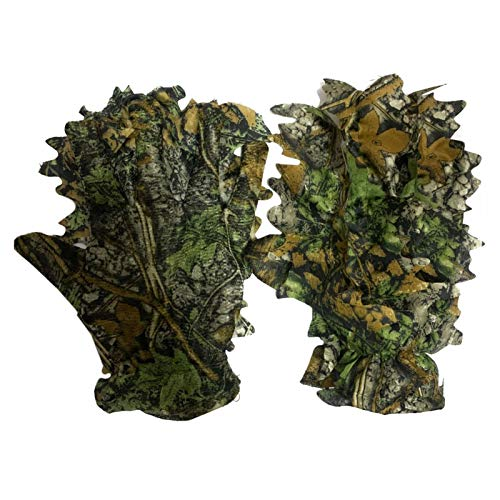 Outdoor Jagd-Handschuhe Handschuhe Tarnhandschuhe Blattimitation 3D Leaf Camouflage Handschuhe, Geeignet Für Den Einsatz In Waldgebieten