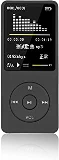 MP3 Player, Lossless MP3, 70 Hour Playback Portable Music Player, Support FM Radio, Recordings, Up to 128 G TF Card (Black)