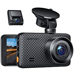 Ultra HD Resolution - With WQHD 1520P at 30FPS max, 1440P front and 1080P rear dual lens, capture the roads simultaneously in super clear definition. Equipped with 170° wide angle for dual cameras monitors all directions without visual blind zone. Re...