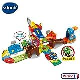 VTech-VTech-503705-Tut Tut Bolides-Circuit Cascades Push et Go + Peter-Super Cascadeur, 503705, Multi-Couleur, Taille Unique