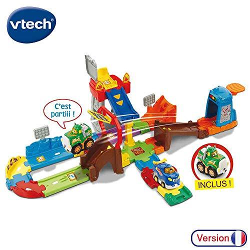 VTech-VTech-503705-Tut Tut Bolides-Circuit Cascades Push et Go + Peter-Super Cascadeur, 503705, Multi-Couleur,...