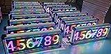 Rótulo Electronico LED Interior Pixel 10 RGB Wifi Con Aplicación Móvil programable Pantalla LED Letrero Pantalla Publicitaria que ejecuta símbolos de texto