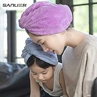 Hair Towels - Sanli Towel Direct Ultrafine Fiber-Free Dry Dry Hair Cap Increase Thickening Water Gaoyang gan fa jin Wholes...
