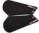 REVSOSTAR Motorcycle Tank Side Traction Pad, Anti Slip sticker,Gas Tank Pad, Traction Side, Fuel Knee Grip Decal for GSXR 600 750 2011-2015 (black)