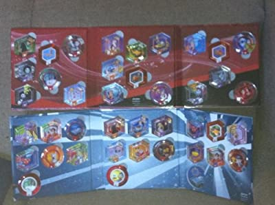 Disney Infinity - Series 1 & Series 2 Power Discs Compete Set Plus All Rares & Exclusives - 48 Discs!