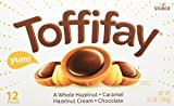 TOFFIFAY Hazelnut Candies, 12 Piece Box (3.5 Ounce), Caramel Candy, Hazelnut Candy, Chocolate Candy, Sweets for Home, Road Trips or Parties, Great Holiday Gift Idea or Birthday Gift Idea