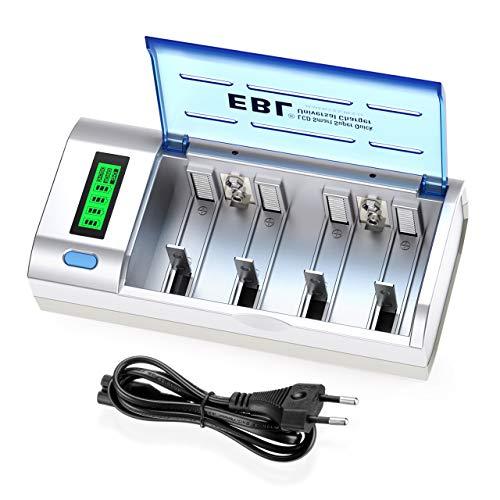 EBL 906 Universal Cargador de Pila para AA AAA C D 9V NI-MH Batería...
