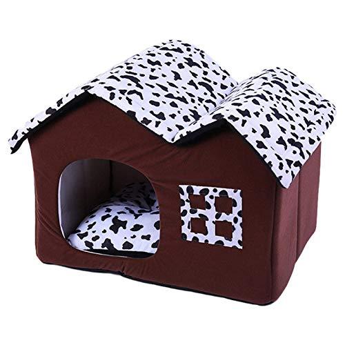 Casa para gatos, cálida para invierno, suave y lavable, para perros PlusIwinna, colchón extraíble suave y cálido para gatito, cachorro, perro, conejo, conejo, interior cálido en invierno