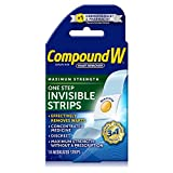Compound W Maximum Strength One Step Invisible Wart Remover Strips, 14 Count
