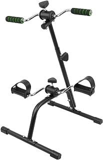 Aparato ejercitador de brazos y piernas a la vez| Apuesta por el deporte en casa Intensidad variable Pedalier Con cintas regulables en el pedal |Color cromado