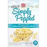 Jolly Time Simply Popped Natural Microwave, Non-GMO Popcorn Kernels with Ghee Clarified Butter, Sea Salt, Palm Oil (3-Count Box), 9 ounce, Pack of 4