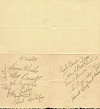 Bob Chester And His Orchestra - Menu Signed with co-signers