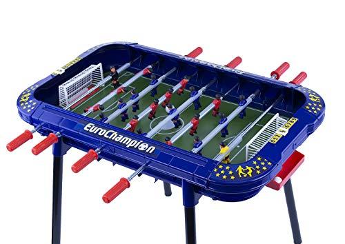 Chicos Euro Strategic EuroChampion Futbolín Infantil con Jugadores Intercambiables y Marcador de Goles, a Partir de 3 años, Color Azul, 86.5 cm x 73.5 cm x 71.5 cm (72460)
