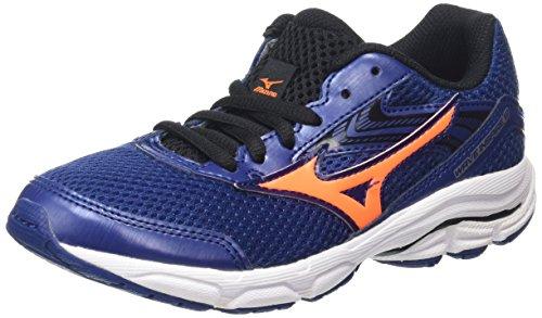 Mizuno Wave Inspire 12 Jr, Zapatillas de Running, Niños, Azul (Twilight Blue/Black/Clownfish), 33