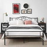 VECELO Metallbett Doppelbett Gästebett Jungendbett140 x 190 cm für 2 Personen Einfach zu montieren - Schwarz …