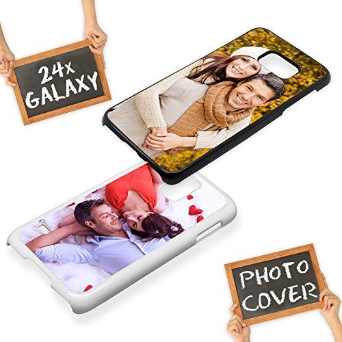 PixiPrints Handyhülle aus Kunststoff selbst gestalten * eigenes Foto * Schutz mit eigenem Bild, Farbe:Schwarz, Kompatibel mit Samsung Galaxy S9 Plus