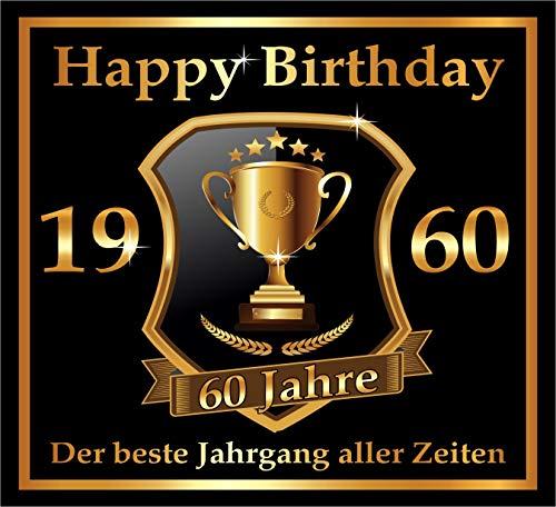RAHMENLOS 3 St. Aufkleber zum 60. Geburtstag: 1960 der Beste Jahrgang Aller Zeiten - Selbstklebendes Flaschen-Etikett. Original Design