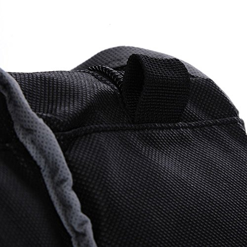 SODIAL Dustproof Foldable Boots Storage Bag Shoes Organizer Portable Travel Protector Bags Long Boots Cover Container Black