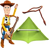 Disney Pixar Toy Story 25th Anniversary Woody Figure in True to Movie Scale with Guitar, Lasso, Kite for Creative Play, Highly Posable, Collectible Adult and Kids Birthday Gift Ages 3 and Up