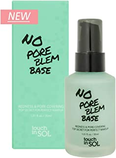 TOUCH IN SOL No Pore Blem Primer Base 1.01 fl.oz(30ml) - Redness & Pore Covering Green Toned Makeup Base Primer, Color Neu...