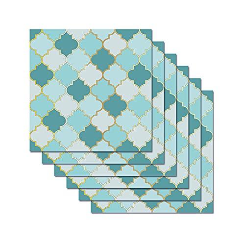 HUSTLE 30 Piezas Pegatinas de Azulejos 3D Etiqueta de la Pared Papel Pintado Cocina Protector contra Salpicaduras baño extraíble azulejo Escalera elevadores calcomanías decoración 20x20cm