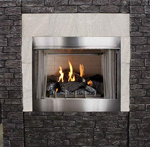 Fantastic Deal! Outdoor Traditional 42 inch Premium Fireplace OP42FP72MN - Natural Gas