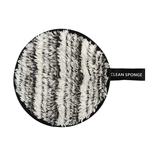 Everpert Tampon Démaquillage Lavable en Fibre Chiffon Démaquillage Tampon Biologique Réutilisable Nettoyant des Yeux et Visage (Noir à Blanc)