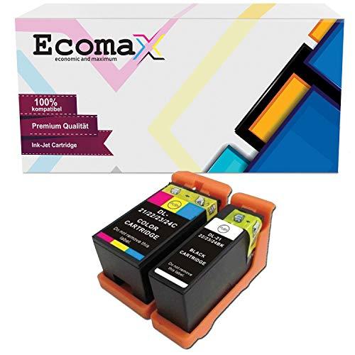 Ecomax 2 Druckerpatronen kompatibel zu Dell 21 22 23 24 für Dell P513W P713W V313 V313W V513W V515W V51 V715W