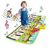 NEWSTYLE Alfombra Musical,Juguetes Niños 1 2 3 4 5 Años,Touch Alfombra Musical Teclado,Infantil Alfombra Piano con 8 Instrumentos,Educativo Juguete Regalo para Bebé Niños Niño Niña,100 x 36cm