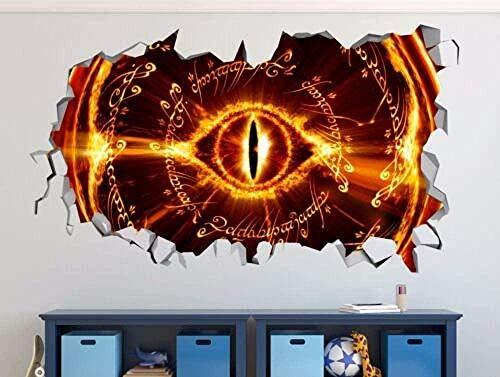 Adhesivo de pared Adhesivo de pared El señor de los anillos pegado decorativo adhesivo de pared Adhesivo 3D vinilo póster de pared