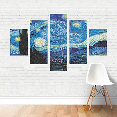 Quadro Van Gogh tela Noite Estrelada Starry Night Artístico