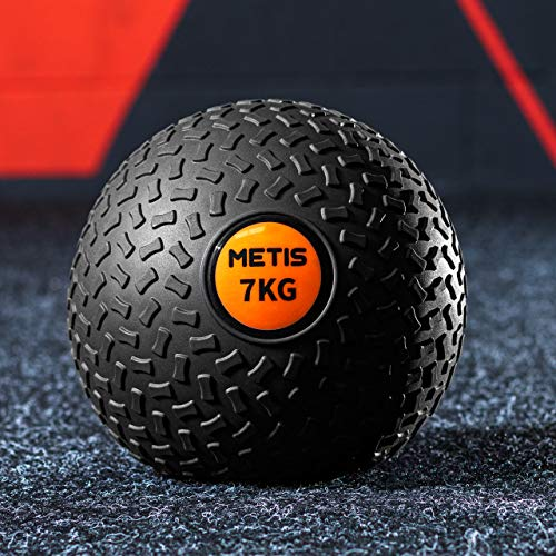 METIS Fitness Slam Ball – 3kg to 20kg | Low Bounce Medicine Ball – Core Strength Training (20kg)