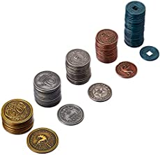 Stonemaier Games Scythe Metal Coins Board Game Addon, Accessory