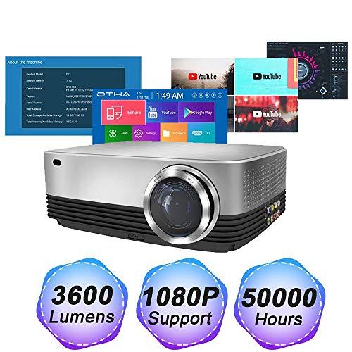 Proyector 1080p 3600 lúmenes WiFi inteligente Proyector Apoyo ...