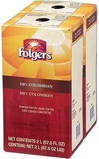 folgers 100 colombian liquid coffee