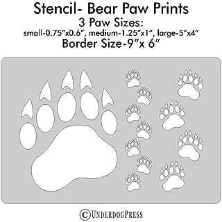 XL Stencil- Bear Paw Prints