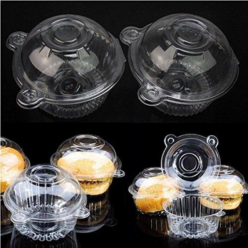 Bazaar 100st ronde vrije cake muffin koekjes voedsel doos houder container