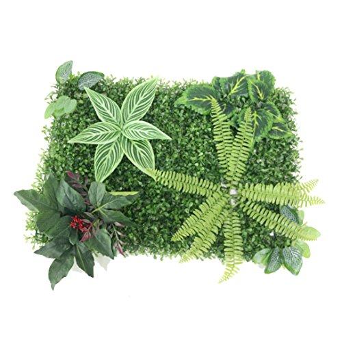 jarown artificiales pared plantas Artificial hierba flores para jardín fondo pared decoración