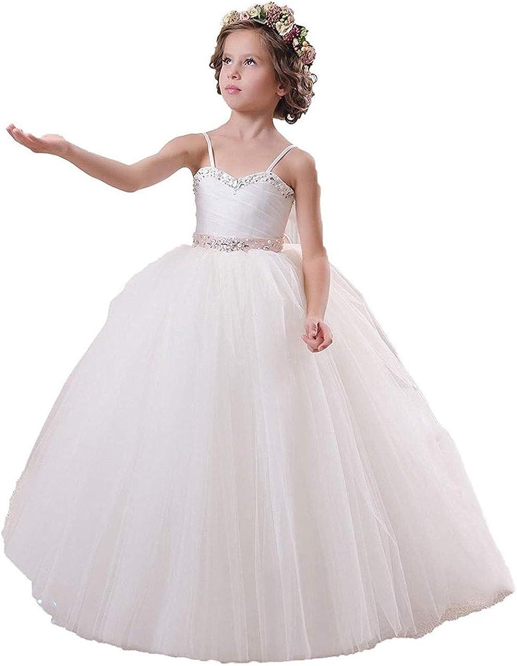 Flower Girl Dress Tulle Pageant Dresses for Girls Ball Gown Princess Dress Littler Girls Birthday Dress