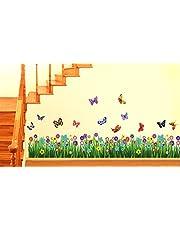 Decals Design 'Walking in The Garden Flower' Wall Sticker (PVC Vinyl, 70 cm x 25 cm), Multicolour