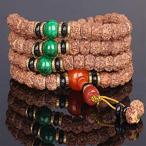 ASFADSFH originele kleur vat kralen 108 gebed Mala Tibetaanse Bodhi zaad armband mannen of vrouwen sieraden 5 stijlen