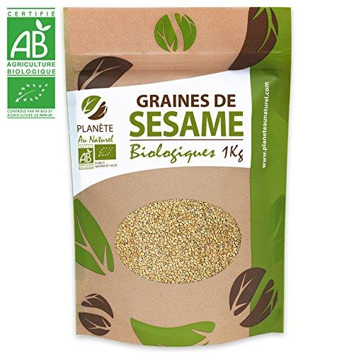 Graines de Sésame Bio - 1kg (Sesamum indicum) - Blond - Complet