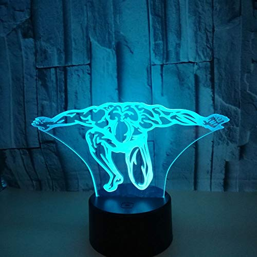 QTYUE Beauté 3d Led veilleuse, télécommande cadeau d'anniversaire 3d luminaires décorations de noël lampe pour enfants, cadeau