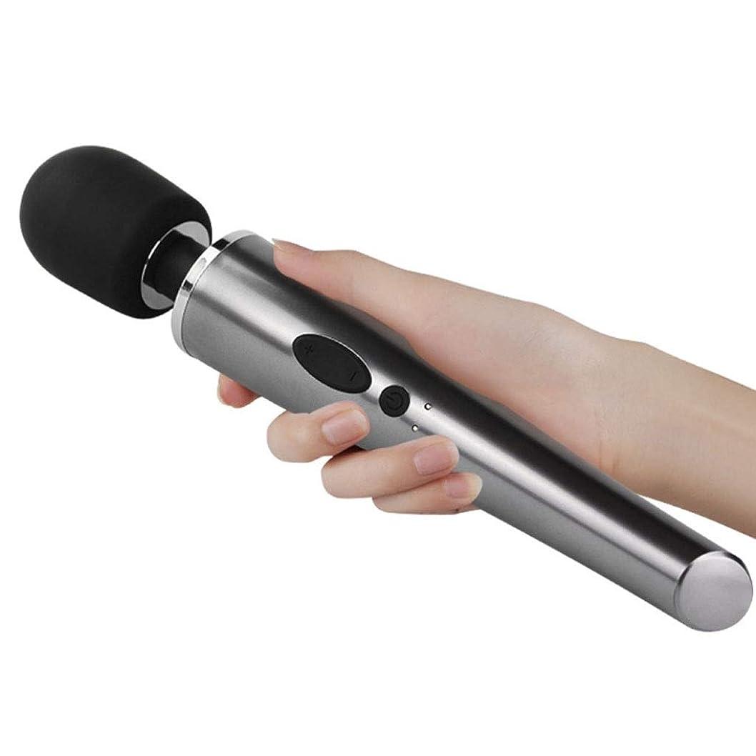 不注意発明中国首と肩、脚のマッサージのための強力なコードレスワンドマッサージャー10周波数振動防水ミュート