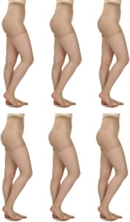 Silky Toes 3 or 6 Pairs Control Top Sheer Pantyhose